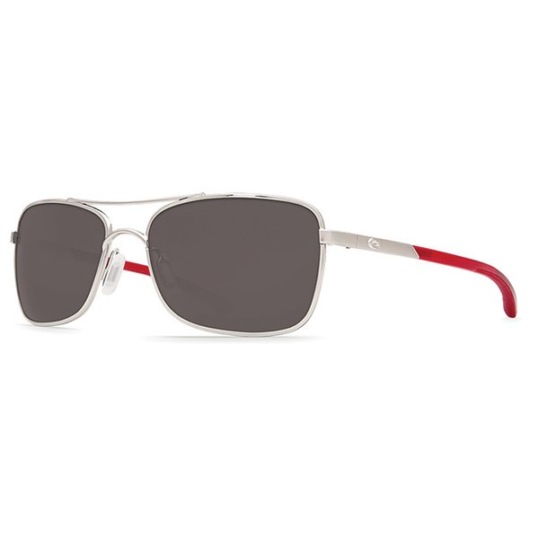 Costa Palapa Sunglasses, Palladium/red Frames with Gray 580P Lenses Sale $199.00 SKU: 16302150 ID# AP 83 OGP UPC# 97963522779 :