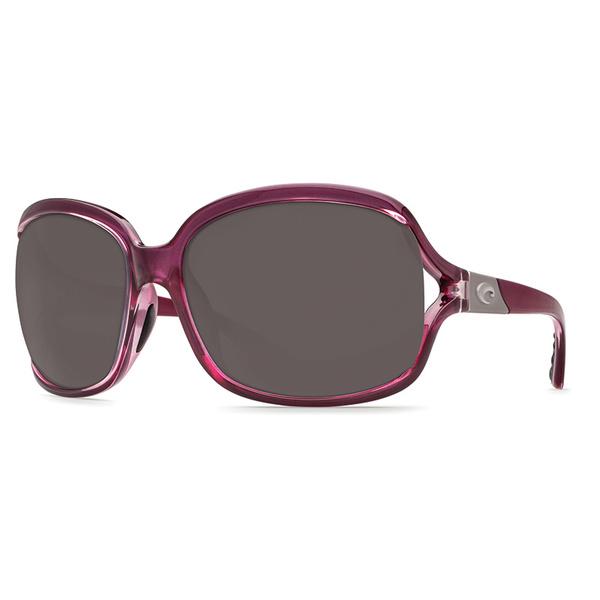 Costa Women's Boga Sunglasses, Retro Tortoise Frames with Amber 580P lenses Orchid/gray