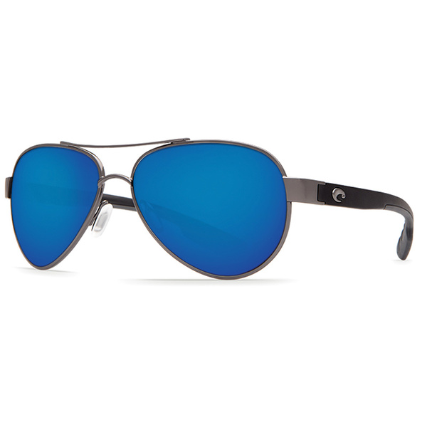 Costa Loreto Sunglasses, Gunmetal Frames with Blue Mirror 580P Lenses