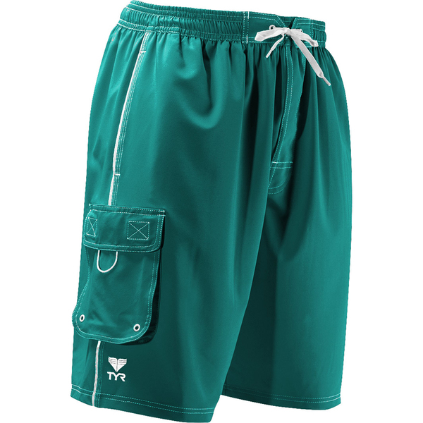 TYR Men's Challenger Solid Trunks Turquoise