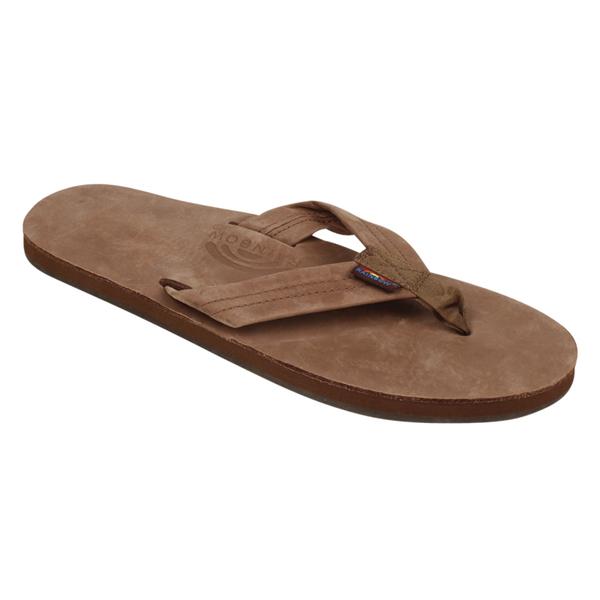 Rainbow Men's Single Layer Premier Leather Sandals Brown Sale $51.00 SKU: 16387409 ID# 301ALTS-DB-MM00 UPC# 871836001024 :