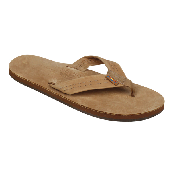 Rainbow Men's Single Layer Premier Leather Sandals Tan