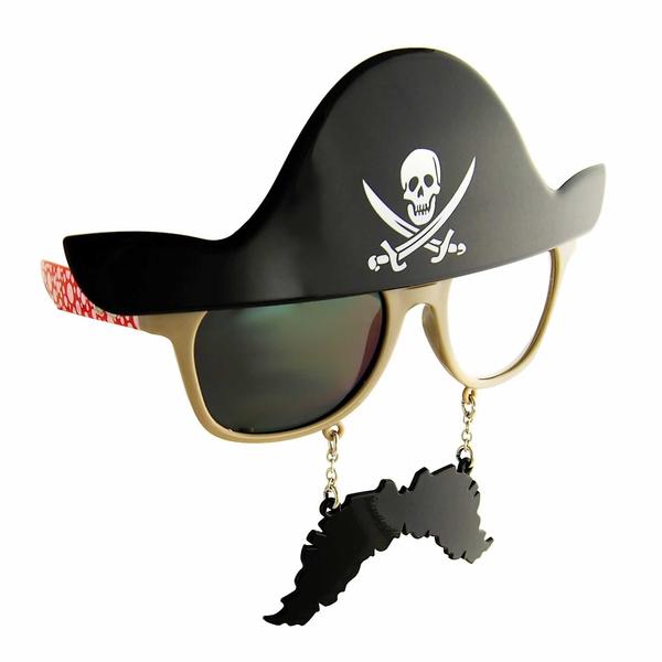 Sun-staches Pirate Sunglasses Black