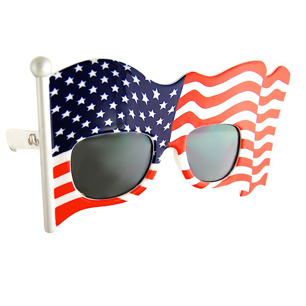 Sun-staches American Flag Sunglasses Red/white/blue