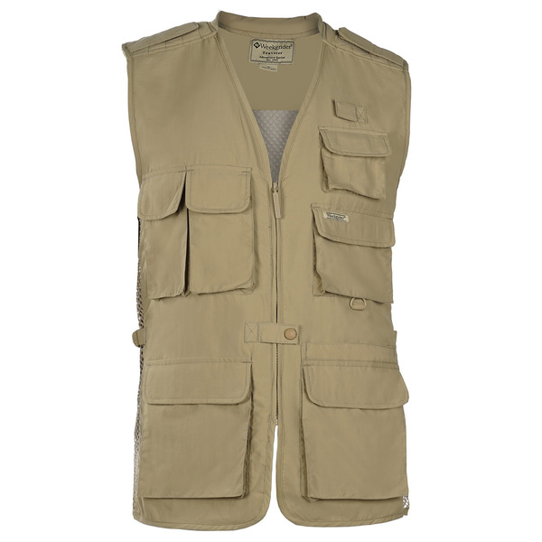 Weekender Men's Travel Air Vest Khaki