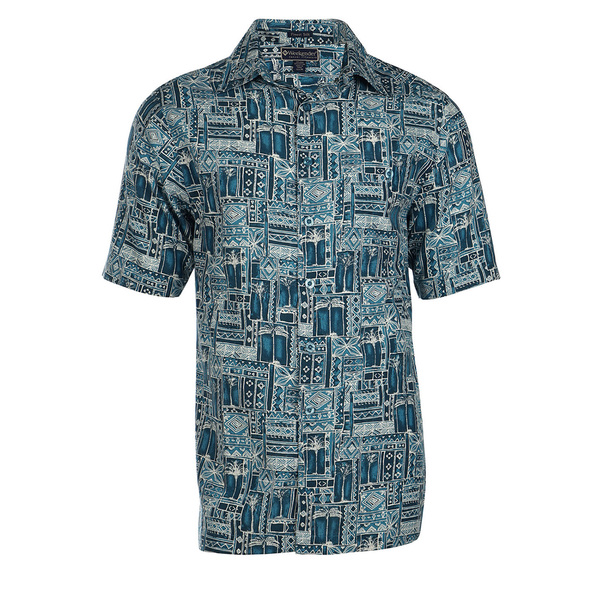 Weekender Mens Tropic Grove Shirt Blue Sale $78.00 SKU: 16423964 ID# M031409 201 L :