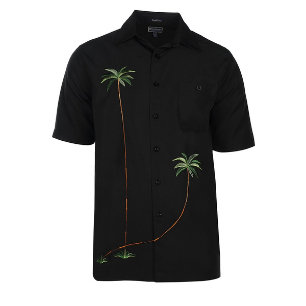Weekender Mens Whispering Palms Shirt Black
