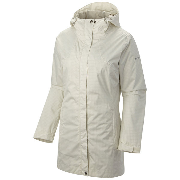 Columbia Women's Splash A Little Rain Jacket Sea Salt/flint Gray Print