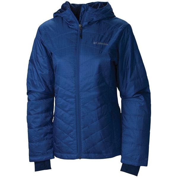 Columbia Women's Mighty Lite Hooded Plush Jacket Blue Sale $130.00 SKU: 16474025 ID# WL1065-508-S UPC# 888664427261 :