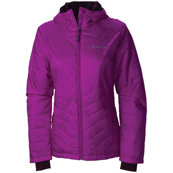 Columbia Women's Mighty Lite Hooded Plush Jacket Bright Plum Sale $130.00 SKU: 16474090 ID# WL1065-530-XL UPC# 888664427070 :