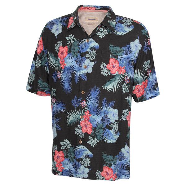 Tommy Bahama Men's Frond Solo Camp Shirt Black Sale $88.50 SKU: 16483315 ID# T311819-023-M UPC# 23798295106 :