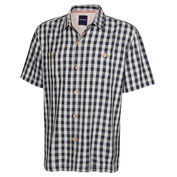 Tommy Bahama Men's Bring 'Em Gingham Camp Shirt Nocturne