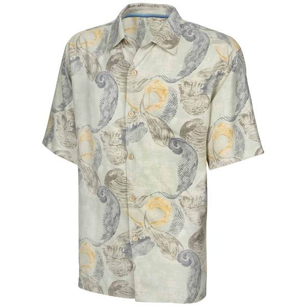Tommy Bahama Men's Breaking Waves Camp Shirt Coconut Cream Sale $88.50 SKU: 16483695 ID# T311862-858-XL UPC# 23798298848 :