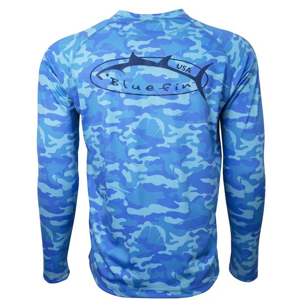 Bluefin Men's Logo Camo Tee Blue