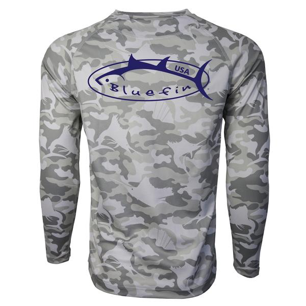 Bluefin Men's Logo Camo Tee Gray