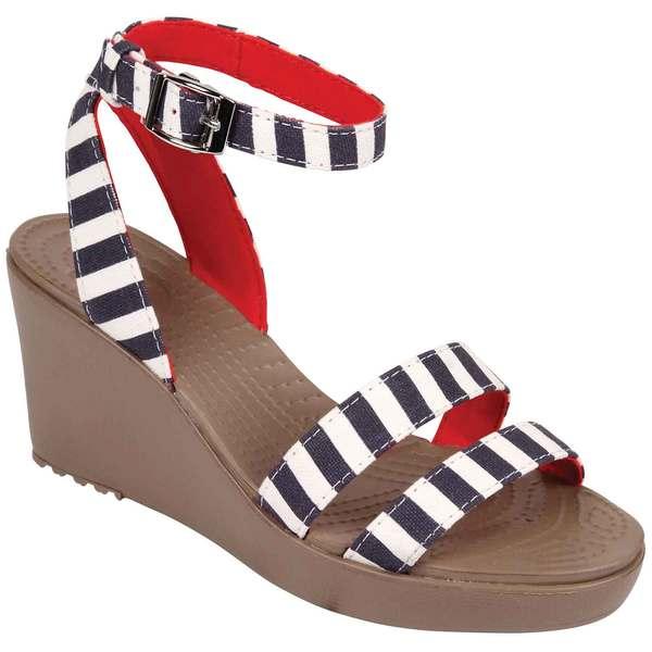 Crocs Women's Leigh Graphic Wedge Navy / White Sale $54.99 SKU: 16521536 ID# 15313-4F8-440 UPC# 887350157352 :