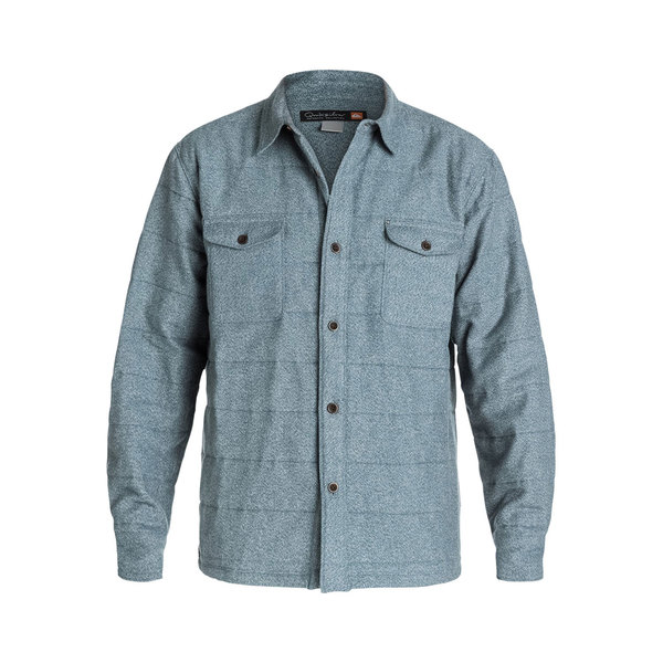 Quiksilver Men's Ridgewood Long Sleeve Shirt Jacket Gray
