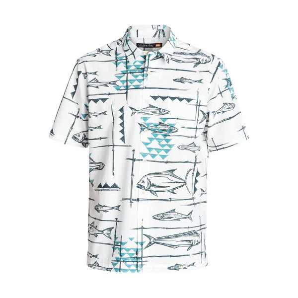 Quiksilver Men's Reelin' Short Sleeve Shirt White