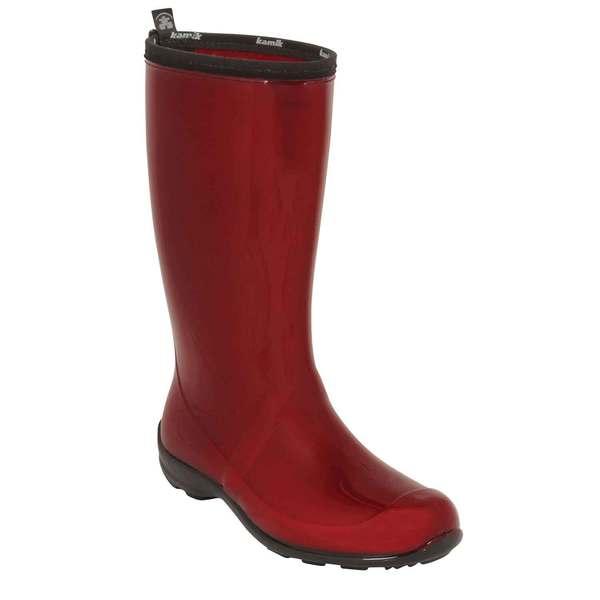 Kamik Women's Heidi Rain Boots Red