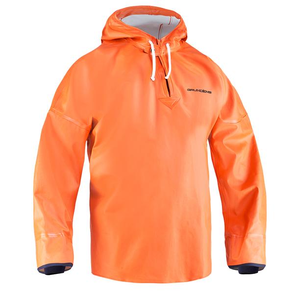 Grundens Men's Brigg 34 Anorak Pullover Orange