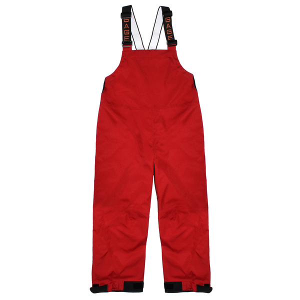 Grundens Men's Deck-Boss Bibs Red