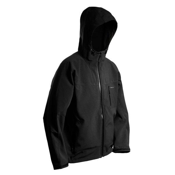 Grundens Men's Weather Gage Hooded Jacket Black Sale $220.27 SKU: 16661159 ID# WH100BXL UPC# 7332525003550 :