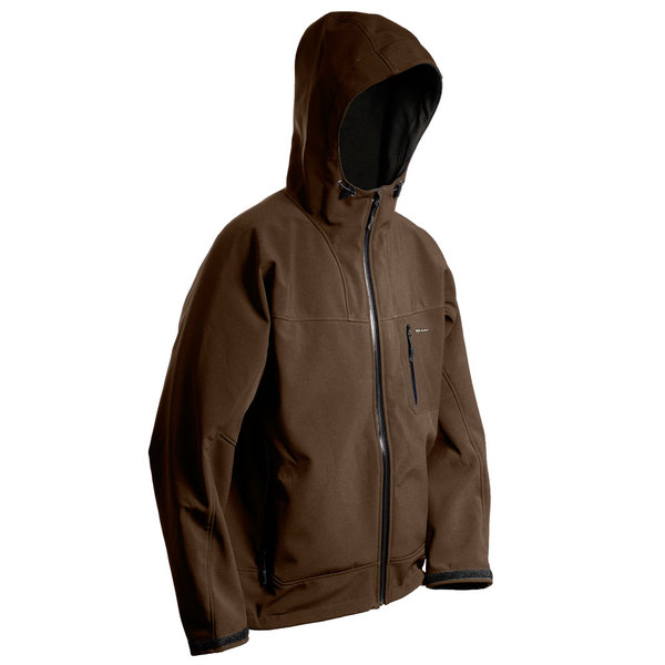 Grundens Men's Weather Gage Hooded Jacket Brown