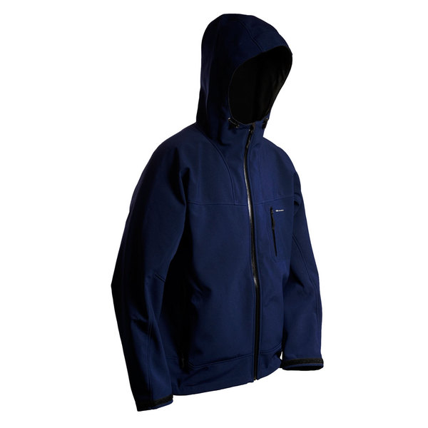 Grundens Men's Weather Gage Hooded Jacket Navy