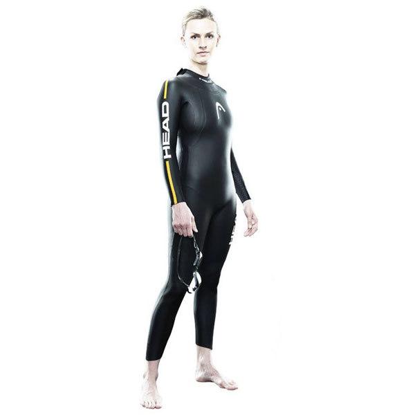 HEAD Womens's Tricomp 12 Triathlon Wetsuit, Black, Size S/M