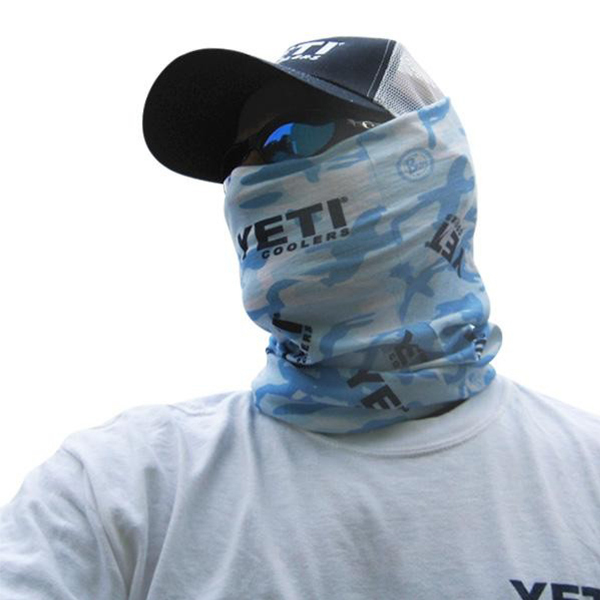Yeti uv caribbean camo buff west marine for West marine fishing shirts