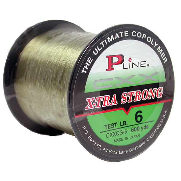 P line cxx x tra strong monofilament 1 4lb moss green for Strong fishing line