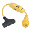 Dockside 30A to 15A Adapter with Ground Fault Protection