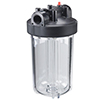 Water Filter, Clear Sump/White Top, 4 13/16