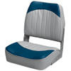 Promotional Low-Back Folding Fishing Boat Seat, Gray/Navy
