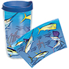 Guy Harvey Big Game 16 oz. Wrap Tumbler, With Lid
