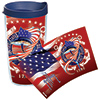 Guy Harvey Coast Guard 16 oz. Wrap Tumbler, With Lid