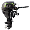 9.9hp Propane Powered Outboard Engine, Short Shaft, Electric Start, Remote Steering