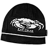 Eat Crab Knitted Beanie, Black