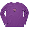 Women's Seashell Heart Long-Sleeve Crusher Tee