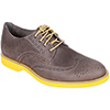 Men's Cloud Logo Color Pop Wing Tip Boat Oxfords