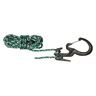 Large Black Carabiner w/Rope, 1/8