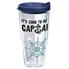 Good To Be Captain Tumbler with Lid, 24 oz.