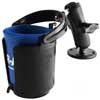 RAM Self-Leveling Cup Holder with 1