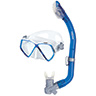 Pirate Junior Dry Snorkel Combo, Blue