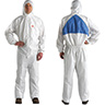 Disposable Protective Coverall Safety Work Suit with Hood, XXX-Large, 25-Pack