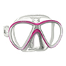 X-VU LiquidSkin Sunrise Dive Mask, Pink/White