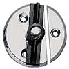 Chromed Zinc Door Button - 1 3/4