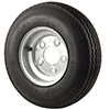 Trailer Tires & Wheels - Galvanized Solid, 8 x 3.75 Rim, 4 x 4 Bolt, 570 x 8B, Bias, 715 Capacity
