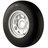Trailer Tires & Wheels - Galvanized Spoke, ST205/75R x 15C Radial
