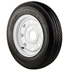 Trailer Tires & Wheels - White Spoke, 14 x 6 Rim, 5 x 4.5 Bolt, ST205/75R x 14, Radial, 1760 Capacity